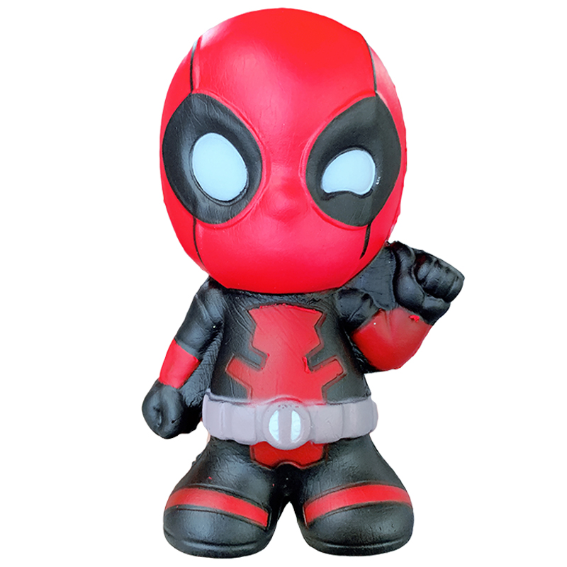 Jumbo Super Hero Marvel Deadpool Squeeze Toys Cartoon Slow Rising Squishy Soft Scented Stress Relief Fun For Kid Xmas Gift Toy