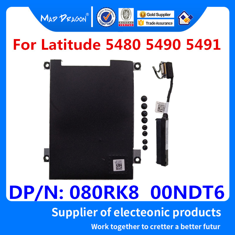 Laptop New HDD Hard Drive Connector Cable HDD Bracket Caddy Dell Latitude 5480 5490 E5480 E5490 E5491 080RK8 80RK8 00NDT6 0NDT6