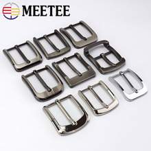 Meetee 2/5pcs Metal Pin Belt Buckles for Mens Women 35/40mm Waistband Head DIY Leather Crafts Jeans Decor Hardware Accessories