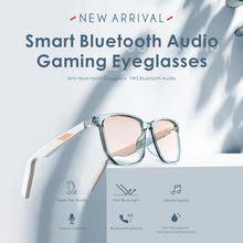Smart bluetooth óculos de áudio fone de ouvido condução óssea polarizado óculos de sol com microfone sem fio fone de ouvido