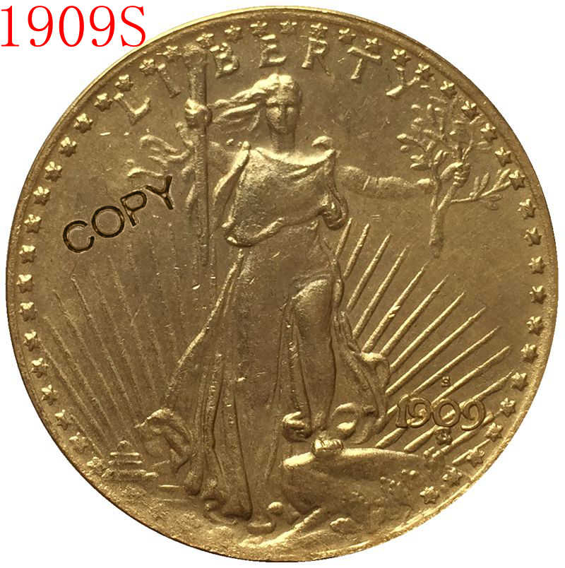 USA 1909-S $20 St. Gaudens Coin Copy
