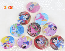 Sneeuw Witte Prinses Badge Broche Pin Type Badge Cartoon Broche Pinnen Voor Rugzakken Badges Plastic(China)