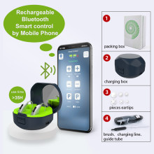Mini Rechargeable Charging Digital Hearing Aids Bluetooth For The Deafness Behind Ear Sound Amplifier