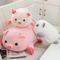 Software down Cotton Pigskin Silly Panda Doll Plush Toys And Soft Cute Piggy Hand Warmer Pillow Children Doll