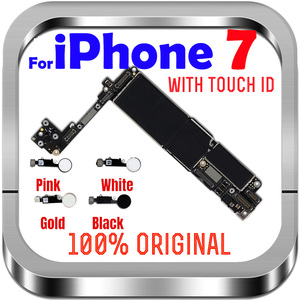 Image 1 - 32gb / 128gb / 256gb for iphone 7 Motherboard With/Without fingerprint ,100% Original unlocked for iphone 7 Logic boards