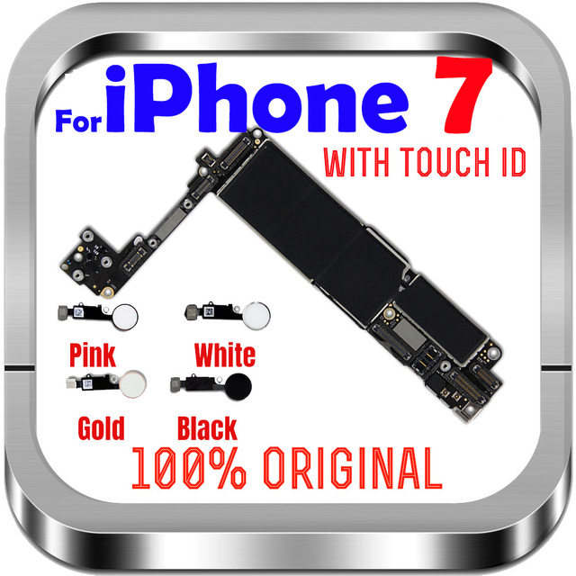 32gb / 128gb / 256gb for iphone 7 Motherboard With/Without fingerprint ,100% Original unlocked for iphone 7 Logic boards
