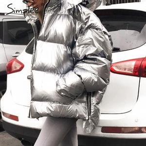 Image 1 - Simplee ファッションプラスサイズの女性の冬パーカーフード付き女性入りのコート厚い特大女性暖かいダウンジャケット