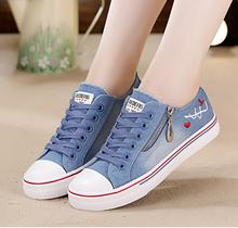 Designer new women shoes denim canvas womens flat casual breathable board sneakers platform