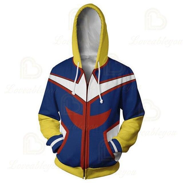 Anime Hoodies Sweatshirts Boku No My Hero Academia Cosplay Costumes Bakugou Todoroki Shoto Spring/Autumn Coat 5