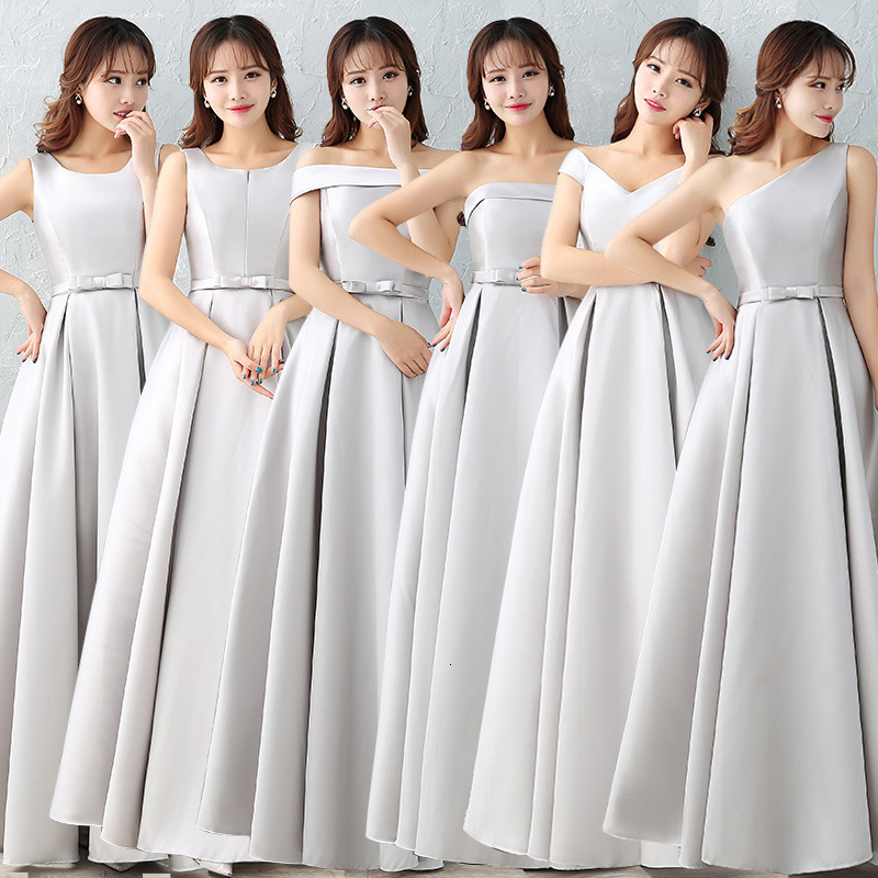 Bridesmaid Dresses A Line Stain Dress For Wedding Party Robe Demoiselle D'honneur Customizable Gown