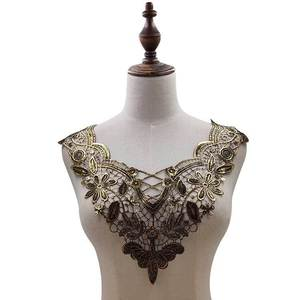 Image 3 - 30 Style High Quality White Lace Fabic Embroidered Applique Neckline for Lace Fabric Sewing Supplies Scrapbooking 45*27cm