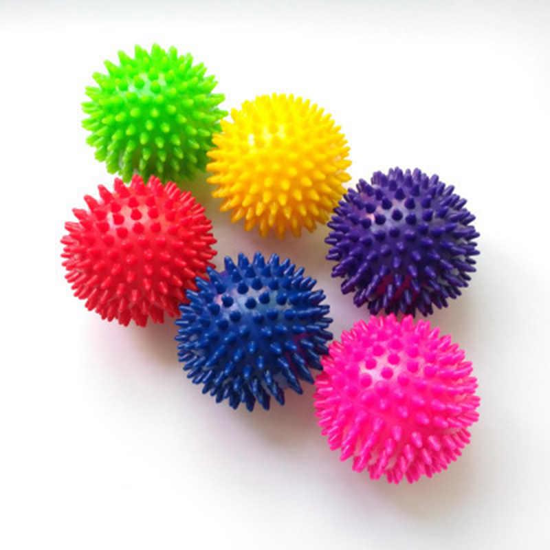7.5CM 6 kolorów Fitness pcv masaż dłoni piłka pcv podeszwy jeż zmysłowy uchwyt treningowy piłka przenośna piłka fizjoterapii