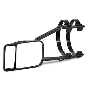 Image 3 - Adjustable Clip on Trailer Towing Dual Mirror Car Caravan Trailer Rearview Mirror Extension Towing Mirror Glass for Car Caravan