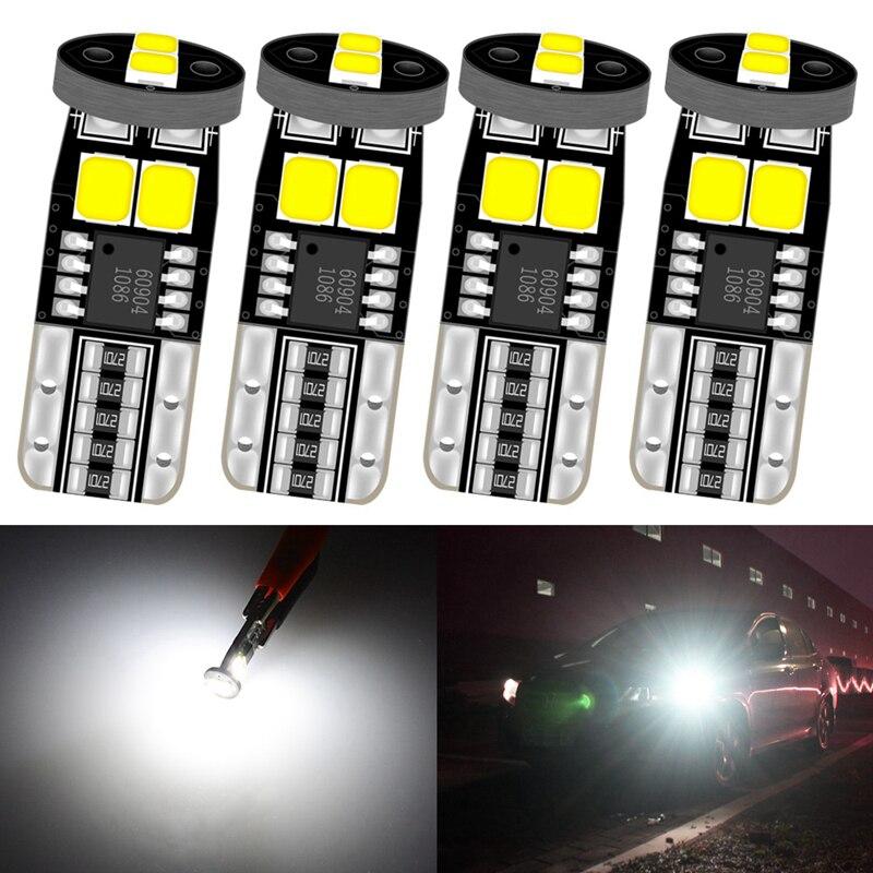 4 adet T10 W5W LED Canbus ampul yok OBC hata LED gümrükleme park lambası LED 194 168 araba sinyali park lambası 6000K beyaz Amber