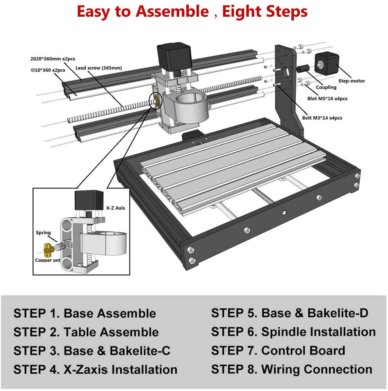 CNC 3018 PRO grawer laserowy drewna urządzenie do cięcia laserowego cnc 3-osiowa frezarka GRBL podłubać grawerowanie maszyny do drewna PCB pcv grawer