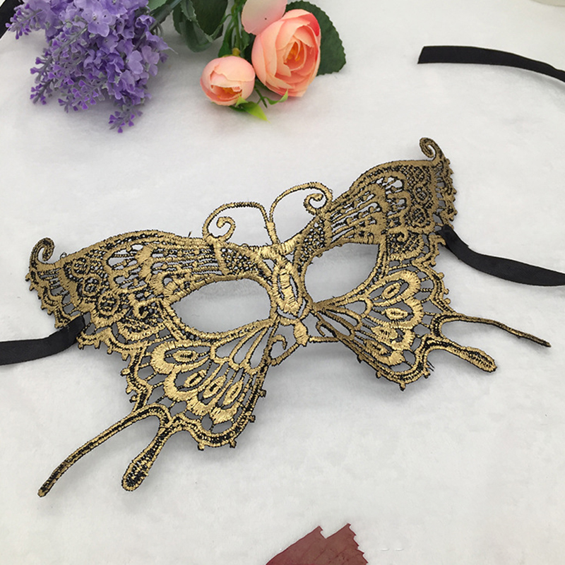 Hot Stamping Butterfly Lace Ball <font><b>Mask</b></font> Women Girl Party Cosplay Masquerade Dance Bar <font><b>Sexy</b></font> Carnival Halloween Half Face <font><b>Eye</b></font> <font><b>Mask</b></font> image