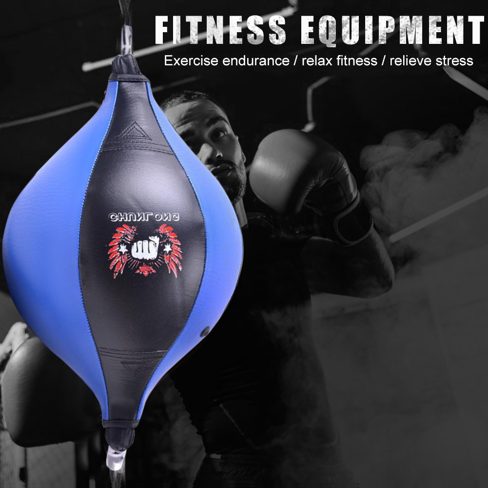 Hand Eye Training Accessories Training Boxing Dodge Speed Balls PU Inflatable Floor to Ceiling Punching Bags