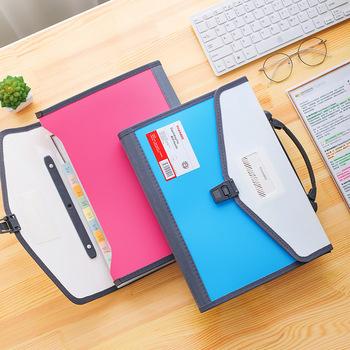 13 kieszenie rozkładana teczka A4 organizator przenośne o dużej pojemności biznes dokument akordeon Folder materiały biurowe materiały dla studentów tanie i dobre opinie Rozszerzenie portfel Torba A4 330*240*30mm KA12B 13 pockets