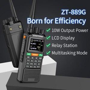 "Image 3 - 2pcs Zastone 889G נייד שתי בדרך רדיו 5 10 ק""מ UHF/VHF 10W 999CH 3000mAh ווקי טוקי חם CB רדיו משדר HF"