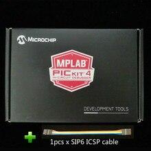 PG164140 Phần Cứng Gỡ Lỗi MPLAB PICKit 4 PICKit4 Có USB Và SIP6 ICSP Cáp