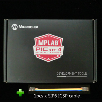 PG164140 debuggery sprzętowe MPLAB PICKit 4 PICKit4 z kablem USB i SIP6 ICSP tanie i dobre opinie Cooboard CN (pochodzenie) Nowy Development