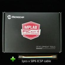 PG164140 debuggery sprzętowe MPLAB PICKit 4 PICKit4 z kablem USB i SIP6 ICSP
