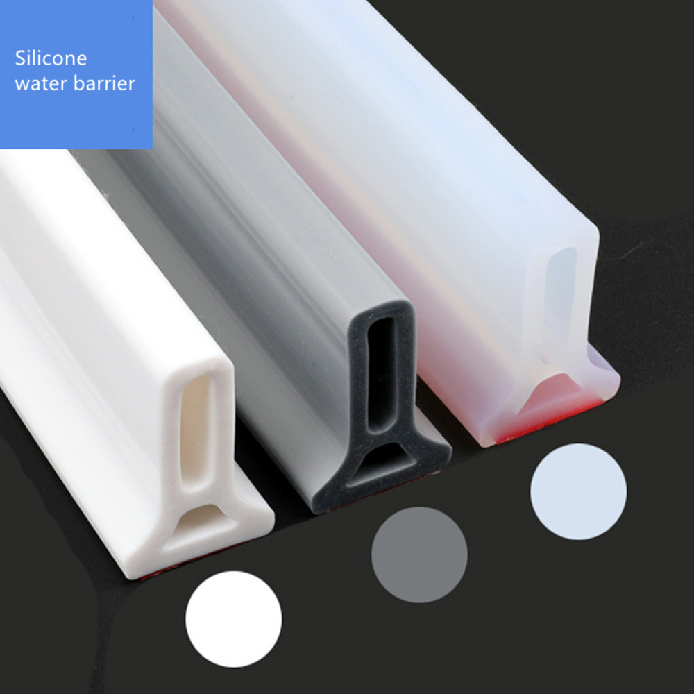Bathroom Water Stopper Flood Barrier Rubber Dam Silicone Water Blocker Dry And Wet Separation Home Improve Dropshiping