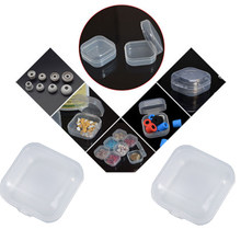 10pcs Plastic Ear Plugs Jewelry storage Box Mini Transparent Plastic Box Bead Clear Organizer Gift small Case For Home Organizer(China)