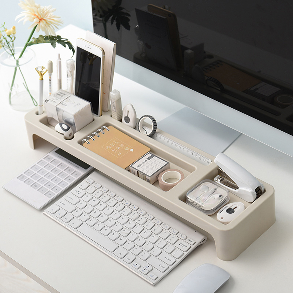 US $46.46 46% OFFOffice Storage Rack Desk Organizer Table Stationery  Holder Desktop Storage Shelf for Computer on AliExpress
