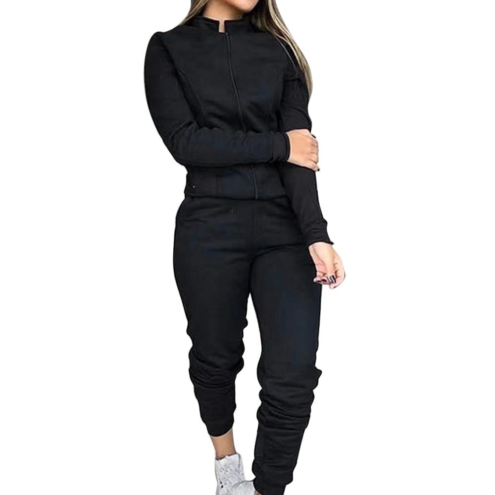 2020 Women Sportswear Autumn Tracksuit Hoodies Pants Tracksuit Sweatshirt Sweat Suit Gym Running Fitness Plus Size Jogging Set