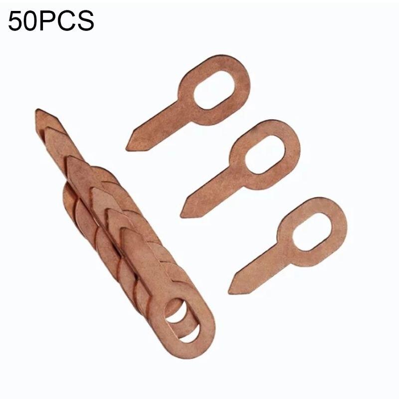 50 Pcs/set Oval Dent Puller Car Body Rings Paintless Lifter Repair Tool Kit