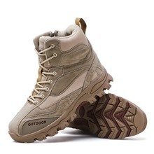 Men Boots Winter Mens Military boot Combat Chukka Ankle Boot Tactical Big Size Army Male Shoes Safety Motocycle