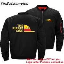 One Piece The Pirate King Luffy Japanese Anime Men's Ma-1 Flight Pilot Air Coats Motorcycle Bomber Windbreaker Thick Jackets 5XL