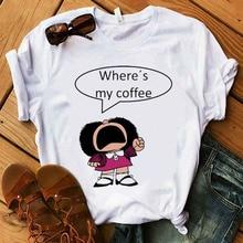 Mafalda T shirt Women Summer harajuku casual short sleeve T shirts Streetwear O Neck White Tops Tee 90s Top tshirt Femme_T-Shirt
