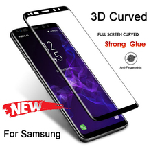 3D Hard Phone Screen Protective Film Glass for Samsung S10 9H HD Toughed Tempered Glass for Samsung Galaxy S8 S9 Plus Note 8 9 hd film mobile phone protective film scratch hd tape packaging for samsung galaxy s3