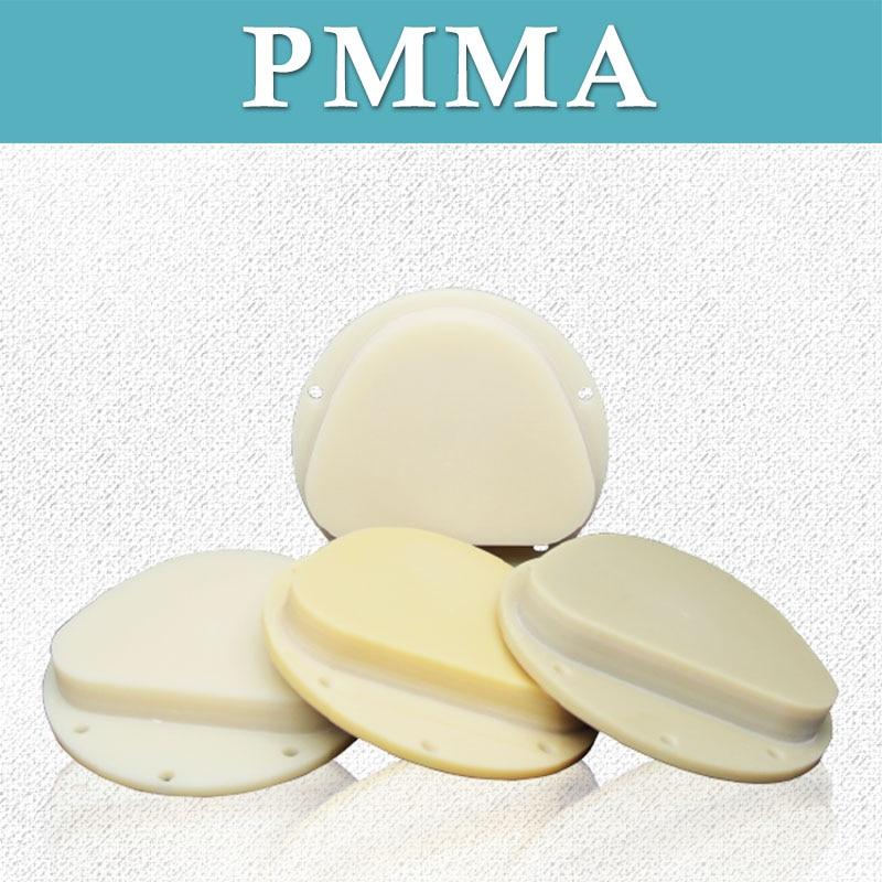 5 Pieces 71mm 16mm Amann Girrbach PMMA Monochrome Disc Single Color PMMA For Dental  Temporary Crown Bridge