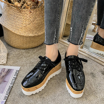 hee grand fur ankle boots camouflage creepers 2017 lace up platform shoes woman wedges flats slip on casual woman shoes xwx6228 COOTELILI Women Shoes Woman Casual Lady Shoes Women's Black Platform Flats Heel Shoes Lace up Black Basic Fashion Flats