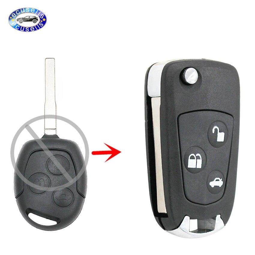3 кнопки модифицированный складной дистанционный ключ флип чехол для FORD FOCUS MONDEO Fiest HU101