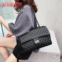 Classic Diamond Pattern Women Plaid Messenger Bag Big Square Female Shoulder