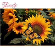 Diamant mosaïque de tournesol, bricolage, peinture fleur, point de croix papillon, décor maison, photo de strass, plein carr