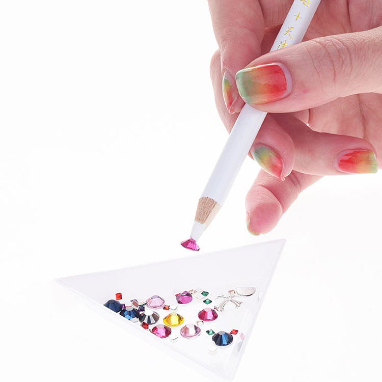 Nail Art Rhinestones Picking Pen Nail Jewelry Pen Used To Paste Diamonds Mobile Phone Natural Detox Rong Tie Drill Special White
