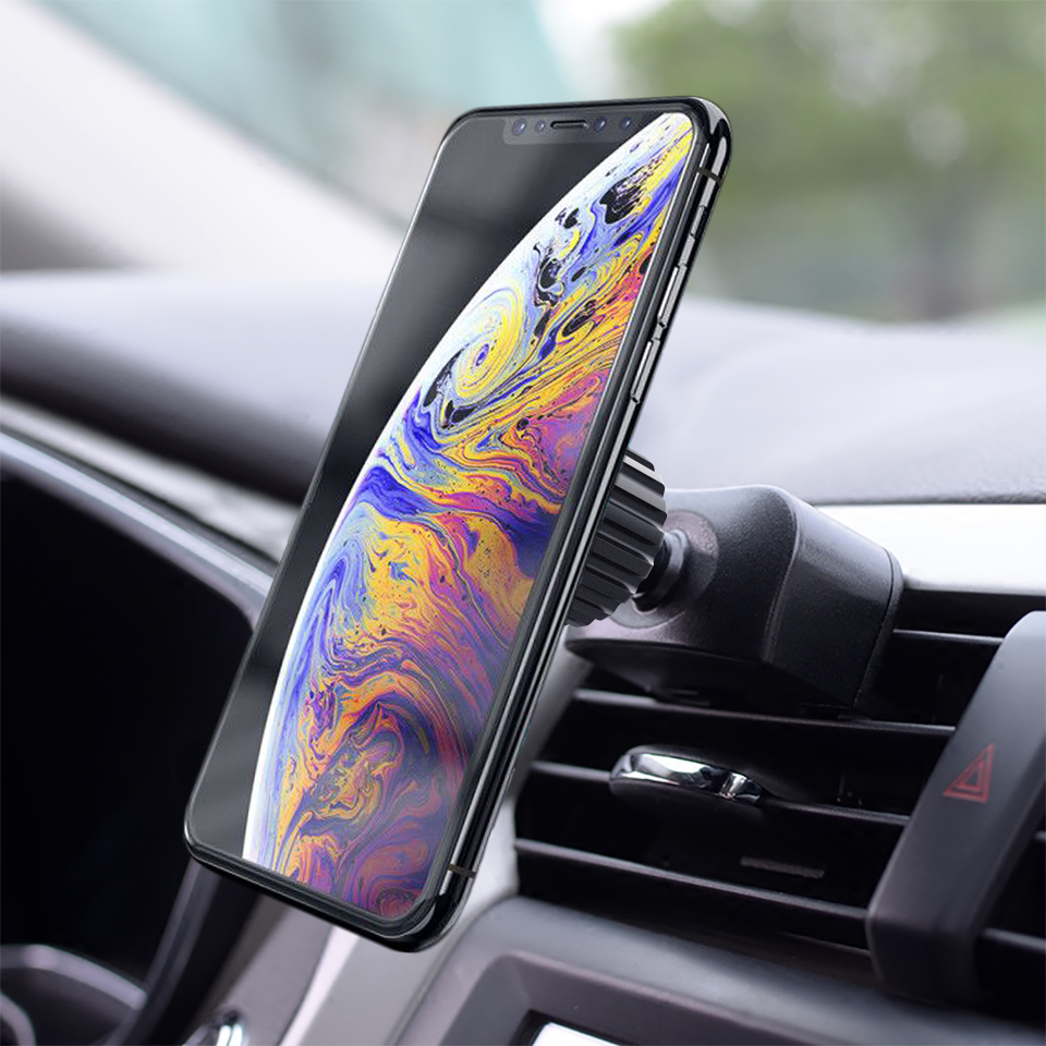 Univerola Car Holder Phone Mount CD Slot Magnetic Stand Magnet Holder For iPhone XS 8 7 6 s Plus Release Button Universal Holder in Phone Holders Stands from Cellphones Telecommunications