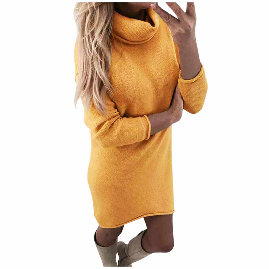 فستان بحجم كبير للنساء من sukienka قميص نسائي ضيق بأكمام طويلة سترة بياقة مدورة فستان شتوي فضفاض vestidos ropa mujer