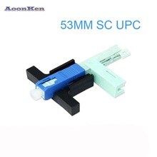 Wholesales SC UPC Fast Connector Single-Mode Connector FTTH Tool Cold Connector Tool Fiber Optic Fast Connnector 53mm