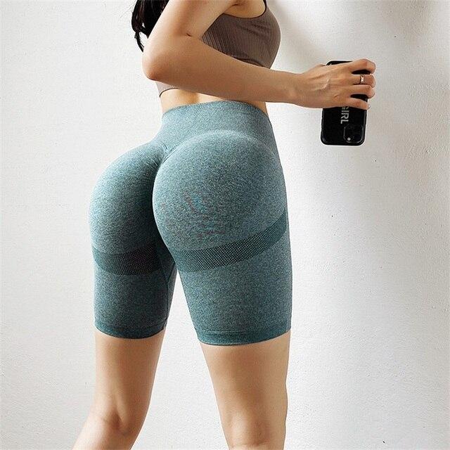 Gym Shorts Fitness Clothing Seamless Women Push Up High Waist Shorts Sports Workout Short Leggings Tummy Control Hot 2020 2