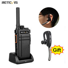Retevis Walkie Talkie Bluetooth RB637 PTT Bluetooth PMR 446 FRS Two-way Radio Portable Radio Walkie-talkies for Hotel Restaurant