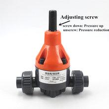 UPVC relief valve relief valve PVC plastic Relief valve back pressure valve safety one-way Valve 1 Pcs