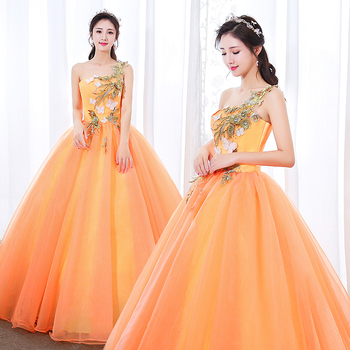 Fairy Vestidos De Dulces 16 Quinceanera Dresses Blue One Shoulder Organza Sweet 15 Masquerade Ball Gowns Robe De Quinceanera