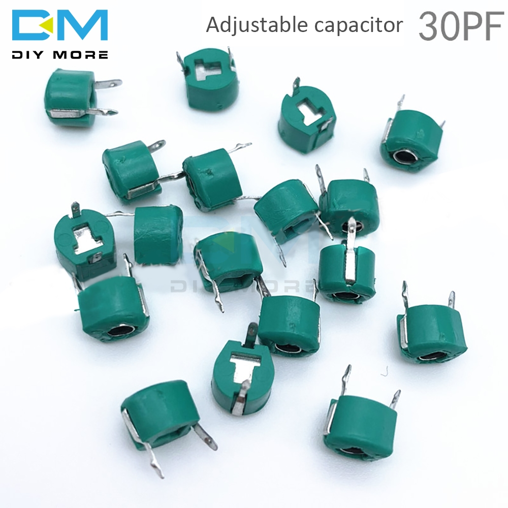 radio electronic RF trimmer variable capacitor PC board mount 5pF 10 PCS LOT