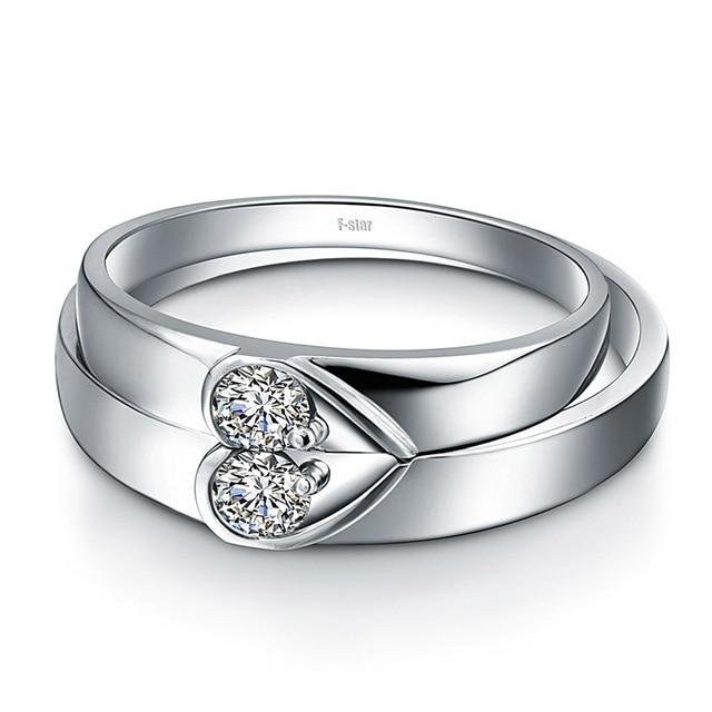 18ct Gold Diamond Couple Set Rings Wedding Bands Engagement Rings for Men Women Free DHL Shipping 3